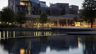 Scottish parliament building in Edinburgh