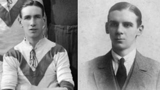 Private William Jonas (L) and Second Lieutenant Hugh Carr (R)
