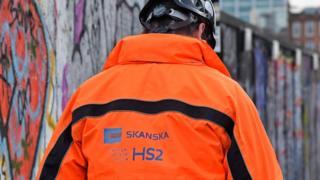 HS2 construction worker