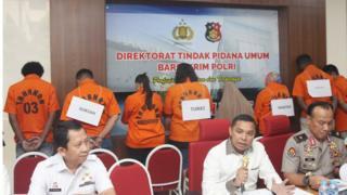 Kepolisian mengumumkan penangkapan tersangka perdagangan manusia terbesar.