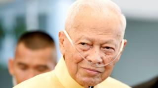 Thailand's former Prime Minister and President of the Royal Privy Council Prem Tinsulanonda is seen during an official event in Bangkok on 10 April, 2019