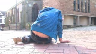 Man on street in Derby
