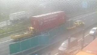 CCTV footage of the crash scene