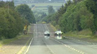 Police cordoned off the road where the man died