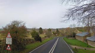 The A361 in South Newington