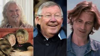 Billy Connolly, Sir Alex Ferguson, Robert Carlyle and Gregor Fisher and Elaine C Smith