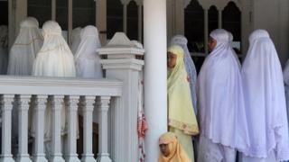 Warga Ahmadiyah di Manis Lor, Kuningan, Jawa Barat