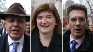 Tory MPs Iain Duncan Smith, Nicky Morgan and Steve Baker