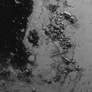 Pluto mountain range
