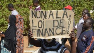 Une manifestation contre la loi des finances (janvier 2018)