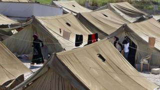 Refugee camp in the eastern Lebanese town of Marj near the border with Syria