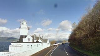 Cloch Road, near Cloch Lighthouse