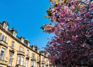 Belgrave Crescent in Edinburgh, after a visit to Dean Village in the glorious sunshine last week - taken by Carol Blogg.