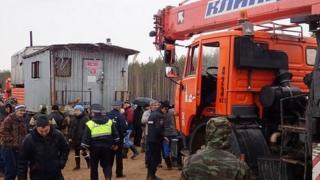 Эвакуация вагончиков