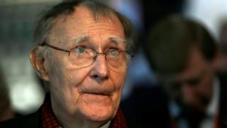 Swede Ingvar Kamprad, founder of furniture retail chain IKEA,