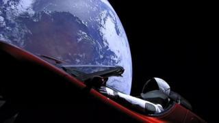Tesla car in space