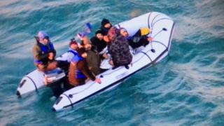 Migrants in boat
