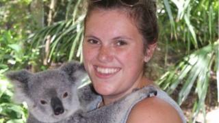 Photo of Chantelle Madonia with Koala bear