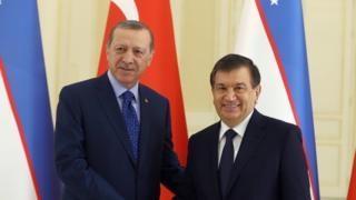 Президенты Эрдоган и Мирзиёев