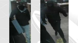 Bank robbery CCTV