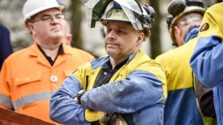 Fed up British Steel workers