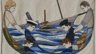 Iolaire panel from the Great Tapestry of Scotland