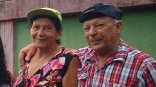 Una foto familiar de Vera y Geraldo