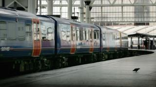 South West Trains carriages at Waterloo