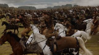 Dothraki em um dos episódios da 3ª temporada
