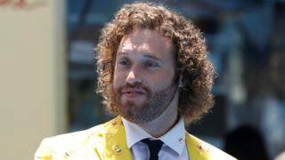 TJ Miller attends the premiere of The Emoji Movie in Los Angeles, California, 23 July 2017