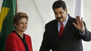 Dilma Rousseff y Nicolás Maduro