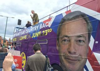 Farage on his bus
