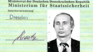Putin old Stasi ID card