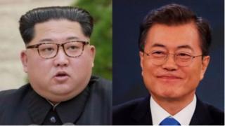 ઉત્તર કોરિયાના વડા કિમ જોંગ-ઉન અને દક્ષિણ કોરિયાના રાષ્ટ્રપતિ મૂન જે-ઈન
