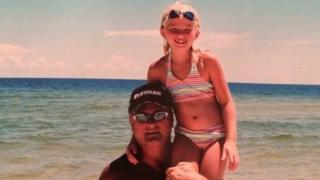 Bailey Sellers and her dad