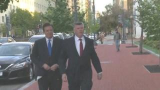 Paul Manafort arrives at FBI