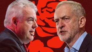 Carwyn Jones a Jeremy Corbyn