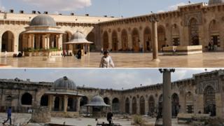 Великая мечеть Алеппо до и после войны