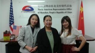 Bà Phan-Gillis (giữa) đến Trung Quốc để thúc đẩy cơ hội kinh doanh cho thành phố Houston