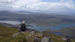 Alison Barclay sent in this photo taken at the summit of Beinn Mhor in South Uist