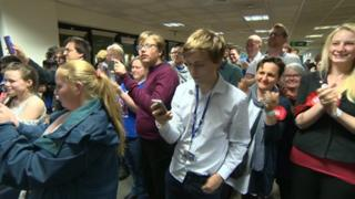 People at election count
