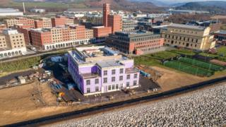 Work has begun on building the main building and halls of residence