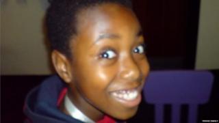 Halcyon Theuri as a teenager
