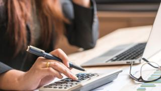 An accountant doing accounts