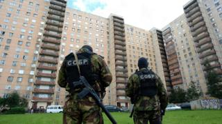 FSB operation at apartment block