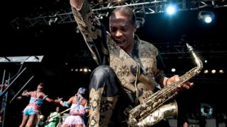 Femi Kuti performing at Womad in 2012