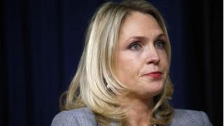 White House aide Kelly Sadler attends a forum in Washington, DC.