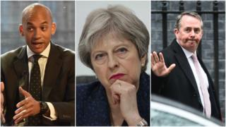 Chuka Umunna, Theresa May and Liam Fox