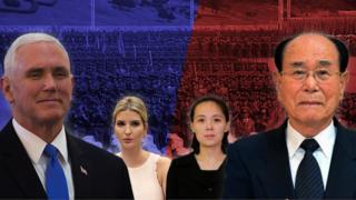 평창을 찾는 미국과 북한의 고위급 인사들