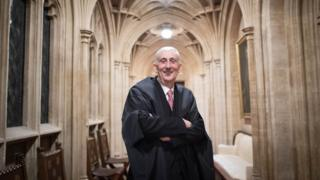 """Sir Lindsay Hoyle in the House of Commons after becoming the new Speaker following John Bercow""""s departure after a decade in the position"""